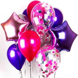 Сет из воздушных шаров Розовое Малибу