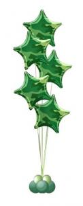 Сет из воздушных шаров Звезды камуфляж