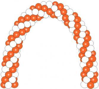 Арка каркасная из воздушных шариков 45-50 см.