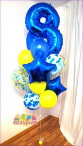 Сет из воздушных шаров Звездный Дождь