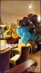 Сет из воздушных шаров 28 мятный шоколад