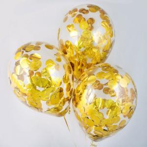 Воздушный шар конфетти золото