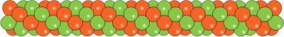 Гирлянда из воздушных шариков 20-25 см.