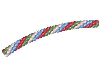 Гирлянда из воздушных шариков металлик 45-50 см.