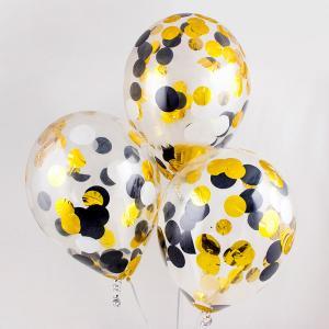 Воздушный шар конфетти шампань