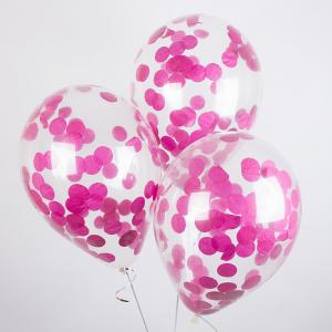 Воздушный шар конфетти Фуксия