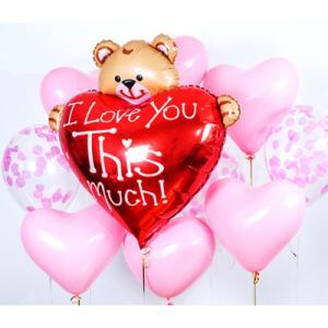 Сет из воздушных шаров Влюбленный мишка