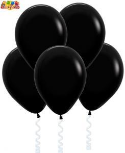 Воздушный шарик с гелием  Черный.