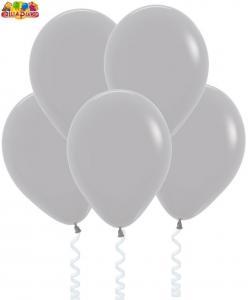 Воздушный шарик с гелием  Серый.