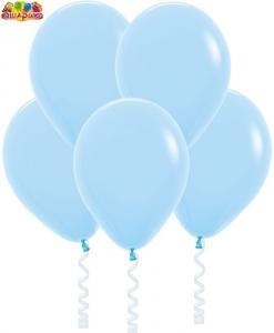Воздушный шарик с гелием  Светло-голубой.