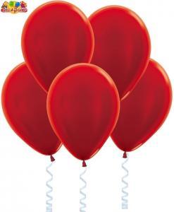 Воздушный шарик с гелием Метал  Красный.