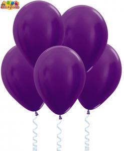 Воздушный шарик с гелием Метал  Фиолетовый.