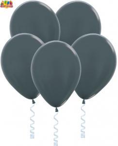 Воздушный шарик с гелием Метал  Графитовый.