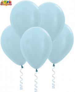 Воздушный шарик с гелием Перламутр  Голубой.