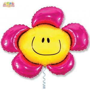 Воздушный шар с гелием Цветочек.