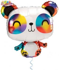Воздушный шар с гелием  Радужная панда.
