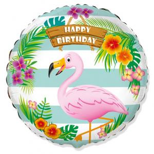 Воздушный шар c гелием Фламинго.