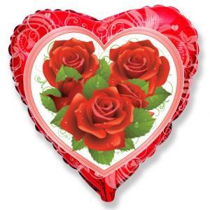Воздушный шар c гелием Розы.