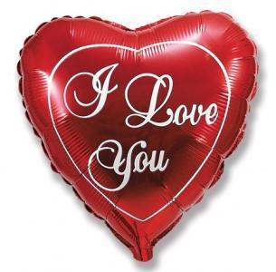 Воздушный шар c гелием Любовь.