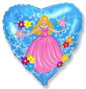 Воздушный шарик с гелием Принцесса Сердце.