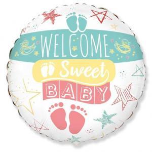 Воздушный шарик с гелием Добро пожаловать, Малыш.