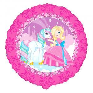 Воздушный шарик с гелием Принцесса Мия и единорог.