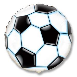 Воздушный шар c гелием Футбольный мяч Черный.
