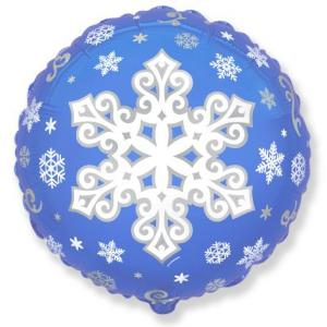Воздушный шар c гелием Снежинка.