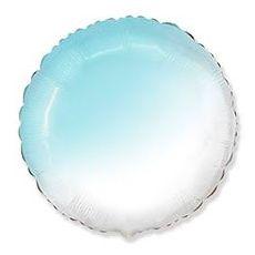 Воздушный шар Круг Бело-голубой.