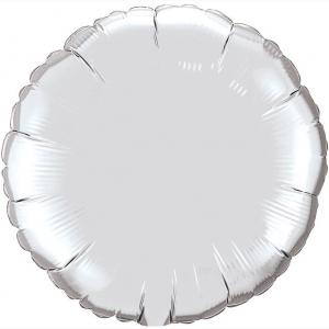 Воздушный шар Круг Серебро.
