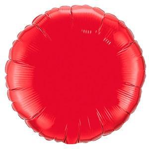 Воздушный шар Круг Красный.