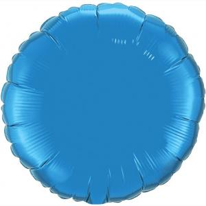 Воздушный шар Круг Синий.