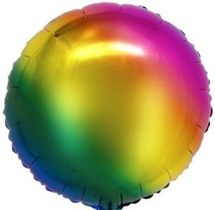 Воздушный шар Круг Радужный.