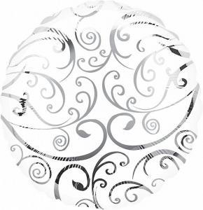 Воздушный шар Круг Белый Филигрань.