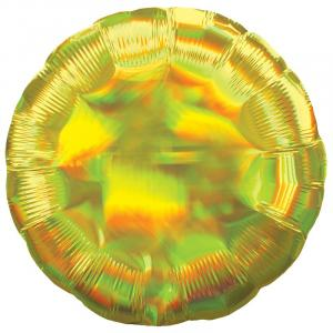 Воздушный шар Круг Жёлтый Перламутр.