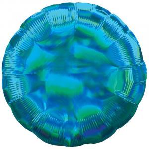 Воздушный шар Круг Синий Перламутр.