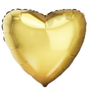 Воздушный шар Сердце Античное Золото.