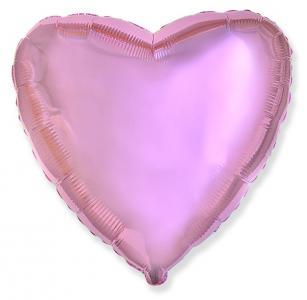 Воздушный шар Сердце Розовый нежный.