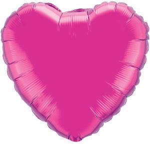 Воздушный шар Сердце Лиловый.