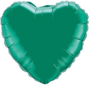 Воздушный шар Сердце Зеленый.