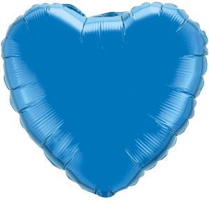 Воздушный шар Сердце Синий.
