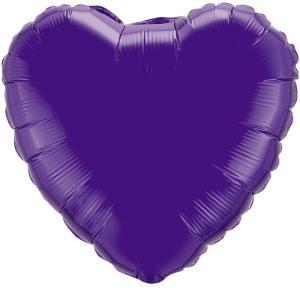 Воздушный шар Сердце Фиолетовый.