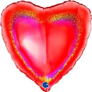 Воздушный шар Сердце Красное.
