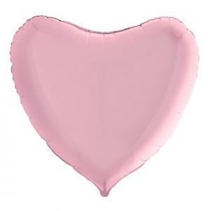 Воздушный шар Большое Сердце Розовое.