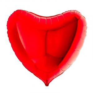 Воздушный шар Большое Сердце Красный.