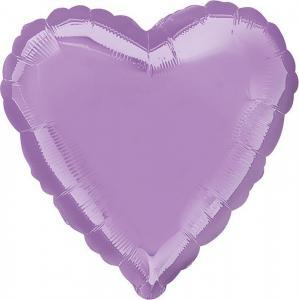 Воздушный шар Сердце Лаванда.