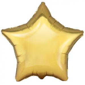 Воздушный шар Звезда Античное Золото.