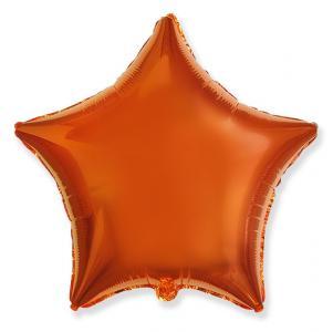 Воздушный шар Звезда Оранжевый.