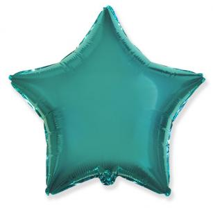 Воздушный шар Звезда Бирюзовый.