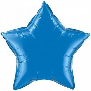 Воздушный шар Звезда Синий.